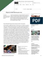 Banco Mundial - Objetivos de Desarrollo Del Milenio - Mejorar La Salud Materna Para 2015