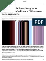 Caso Arcano, AC Inversions y Otras Presuntas Estafas Llevan a Chile a Cerrar Vacío Regulatorio - El Mostrador