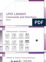 french unit lecture - content and communication
