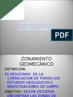 ZONAMIENTO GEOMECANICO