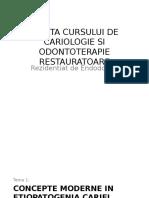 Curs Cariologie Si Odontoterapie Pentru Endodontie