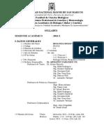 Syllabus Biología Molecular 2013-2