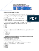 Practice Test Questions