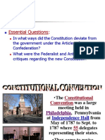 the new nation-articles of confederation to the constitution