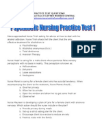 Psychiatric Nursing Practice Test 1