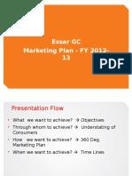 GC Marketing Plan 2012-13