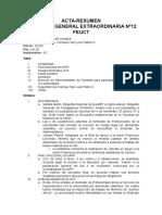 Acta-Resumen Asamblea General Extraordinaria Nº12