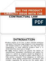Analyzing the Product Liability Issue With the Contractual