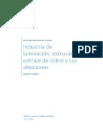 Industria de Laminación, Extrusión y Estiraje de Cobre y Sus Aleaciones