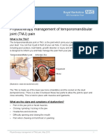 Physiotherapy Management of TMJ Pain
