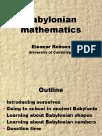 Babylonian Maths