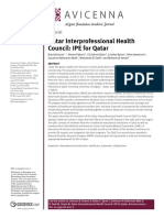 Qatar Interprofessional Health Council - IPE for Qatar