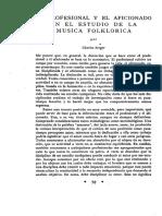 Estudio de La Musica Folklorica