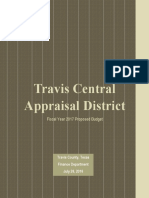 TCAD Adopted budget fy 2017