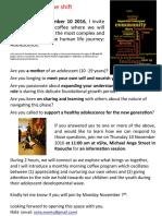 Adolescence - The Shift  (Information Session Invitation)