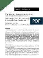 Mariátegui y La Constitución de Un Socialismo Latinoamericano