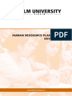Human Resource Planning & Development
