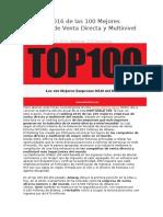 Ranking 2016 de Las 100 Mejores Empresas de Venta Directa y Multinivel Del Mundo