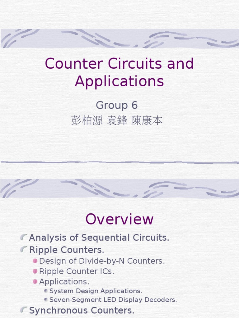 Counter Electronic Design Circuits Synchronous Counters Logical Jk Flip Flop Up Down