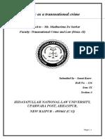 Sem. IX.transnational Crime and Law(Hons-II).Sanat Kurre.project126