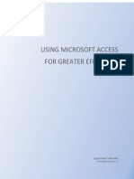 Using Microsoft Access for Greater Efficiency