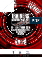 Trainers Conference Brochure 2016