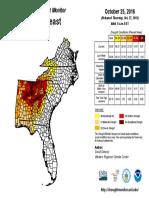 Southest Drought Map