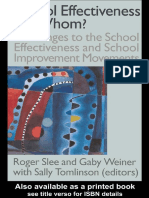 School Effectiveness for Whom