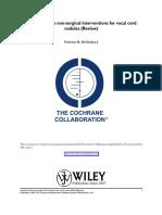 Cochrane Summary for Sx vs Nonsx for Nodules