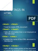 Basic Tags in HTML