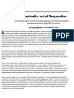 Desalination Out of Desperation