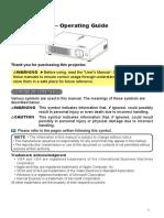 Projector Manual 2719