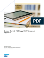 How to Extend the SAP FIORI App HCM Timesheet Approval