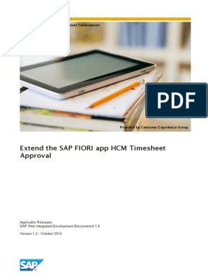 How to Extend the SAP FIORI App HCM Timesheet Approval | Sap