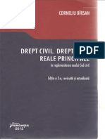 Drept Civil, Drepturi Reale Principale, Corneliu Bîrsan, Ediția 2, 2015