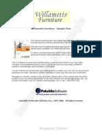 Furniture Store Sample Business Plan