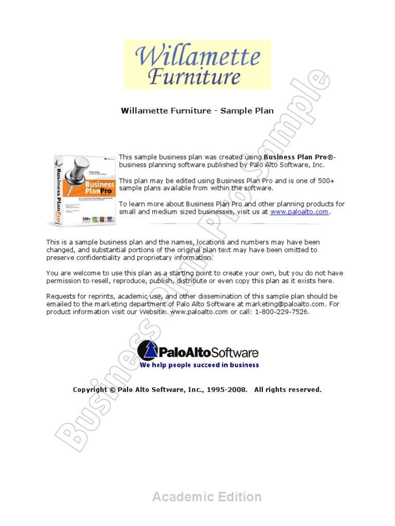 furniture business plan