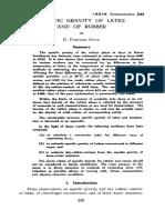 Smith 1940 Specific Gravity Latex