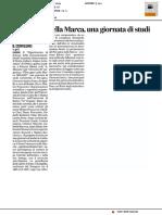 Il Perugino nella Marca, una giornata di studi - Il Corriere Adriatico del 28 ottobre 2016