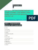 WGU C483 Principles of Management,