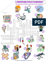 At the Hospital Esl Vocabulary Criss Cross Crossword Puzzle Worksheet