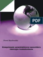 Kompetencje Przedsiebiorcy Menedzera Ideologia Ksztaltowania (1)