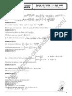 Série d'Exercices - Math - Limite Et Continuité - Bac Eco Gestion