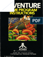 Adventure, 1980, Atari - Game program instructions
