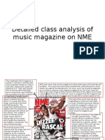 Detailed Class Analysis of Music Magazine on NME