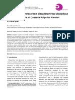 Produção de Amilase de Saccharomyces Diastaticus