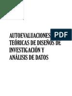 Autoevaluaciones teoricas de diseños de investigacio¦ün y analisis de datos