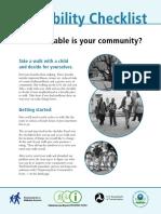 Walking Checklist