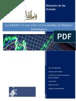La Zakat Et Son Role en Eco Finance Islamiques