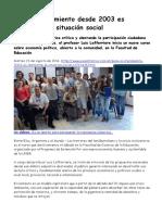 2016-08-23 Lafferriere Pese Al Crecimiento Desde 2003 Es Alarmante La Situación Social